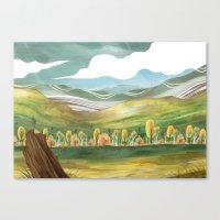Goldenrod Grassland Canvas Print