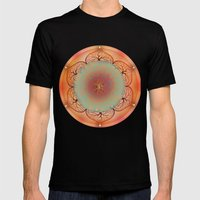 Sacral Chakra Mens Fitted Tee Black SMALL