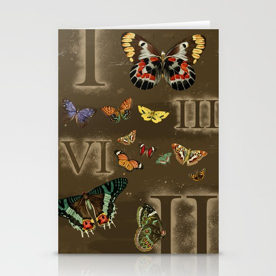 Let's Count Butterflies Stationery Card