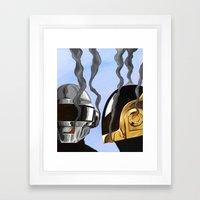 Daft Punk Deux Framed Art Print