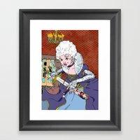 Jeannette-Marie, Zombie Slayer of Marseille Framed Art Print