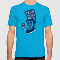Abe Drincoln Mens Fitted Tee Teal SMALL