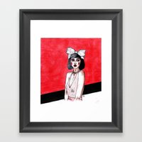 maybe it's a cruel joke on me Framed Art Print