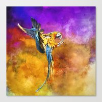 Dazzling Macaw Canvas Print