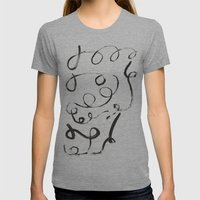 Curly Hair Womens Fitted Tee Athletic Grey SMALL
