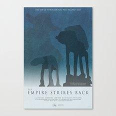 Empire Strikes Back Movie Poster Canvas Print