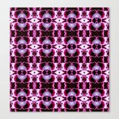 Purple White Flower Patt… Canvas Print