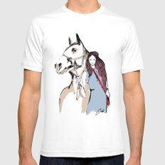 Horse love Mens Fitted Tee SMALL White