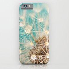 dandelion with waterdrops iPhone 6 Slim Case