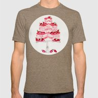 Strawberry Shortcake Mens Fitted Tee Tri-Coffee SMALL