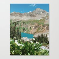 The Blue Lakes of Colorado Canvas Print