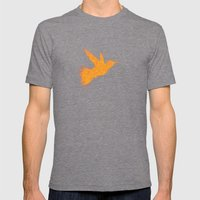 Bird Fly No. 1  (orange) Mens Fitted Tee Tri-Grey SMALL