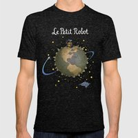 Le Petit Robot Mens Fitted Tee Tri-Black SMALL