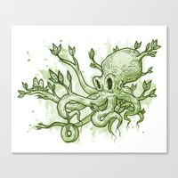 Octopus Tree Canvas Print