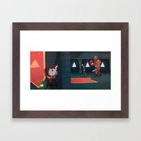 Castle Creep. Framed Art Print