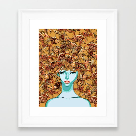 Head up, love Framed Art Print