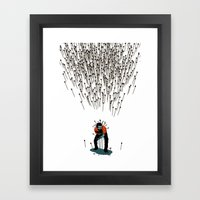 Stop Wasting Arrows And Aim For Its Head, You Damn Fools! V2 Framed Art Print