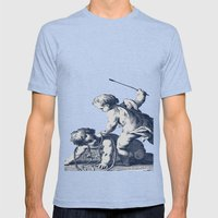 Horseplay Mens Fitted Tee Tri-Blue SMALL