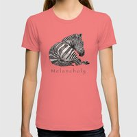 Melancholy Womens Fitted Tee Pomegranate SMALL