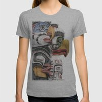 Stanley Park Totems Womens Fitted Tee Athletic Grey SMALL