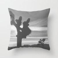 Joshua Tree Silhouettes Throw Pillow