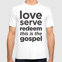 The Gospel Mens Fitted Tee White SMALL