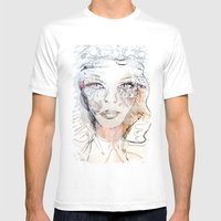 WHITEOUT Mens Fitted Tee White SMALL