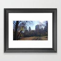 Central Park autumn's light Framed Art Print