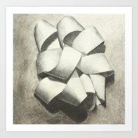Ribbon - Graphite Illust… Art Print