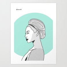 Profile B Art Print