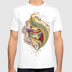 Triangular dream SMALL White Mens Fitted Tee