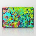 A LITTLE OF THIS - Bright Colorful Abstract Ocean Painting Circle Pattern Magenta Lime Fun Gift iPad Case