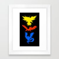 Legendary Bird Splatter Framed Art Print