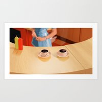 Coffee In Double R Dinne… Art Print