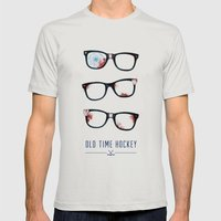 Slapshot - Old Time Hock… Mens Fitted Tee Silver SMALL