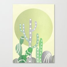 BOHO CACTUS IN MINT Canvas Print