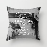 Bruce Says: Expectations Throw Pillow
