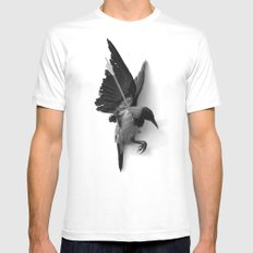CROW White SMALL Mens Fitted Tee