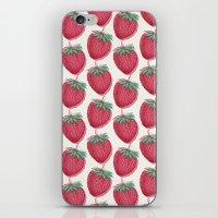 Strawberry Pattern iPhone & iPod Skin