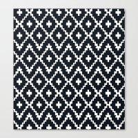 Southwest Diamonds _ Bla… Canvas Print