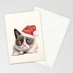 Grumpy Santa Cat Stationery Cards