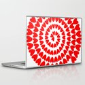 Patt2 RED HEARTS Laptop & iPad Skin