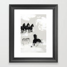 Wild Horses. Into the Wilderness #04 Framed Art Print