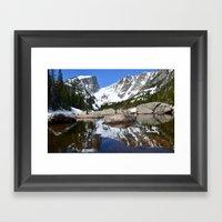 Dream Lake Reflections Framed Art Print