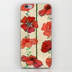 Hanging Poppy Garland iPhone & iPod Skin