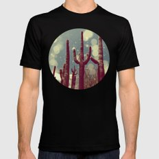 Space Cactus SMALL Black Mens Fitted Tee