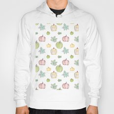 Pumpkin Pattern on White Background Hoody
