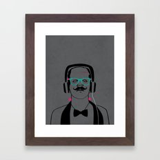 Hipsterstein /gray Framed Art Print