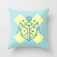 Maritime Love Throw Pillow
