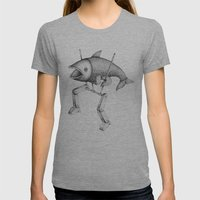 'Evolution I' Womens Fitted Tee Athletic Grey SMALL